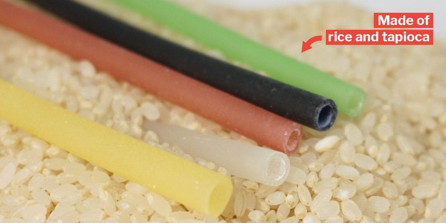 Edible Rice Straws Are Now A Thing In S'pore & They're Also