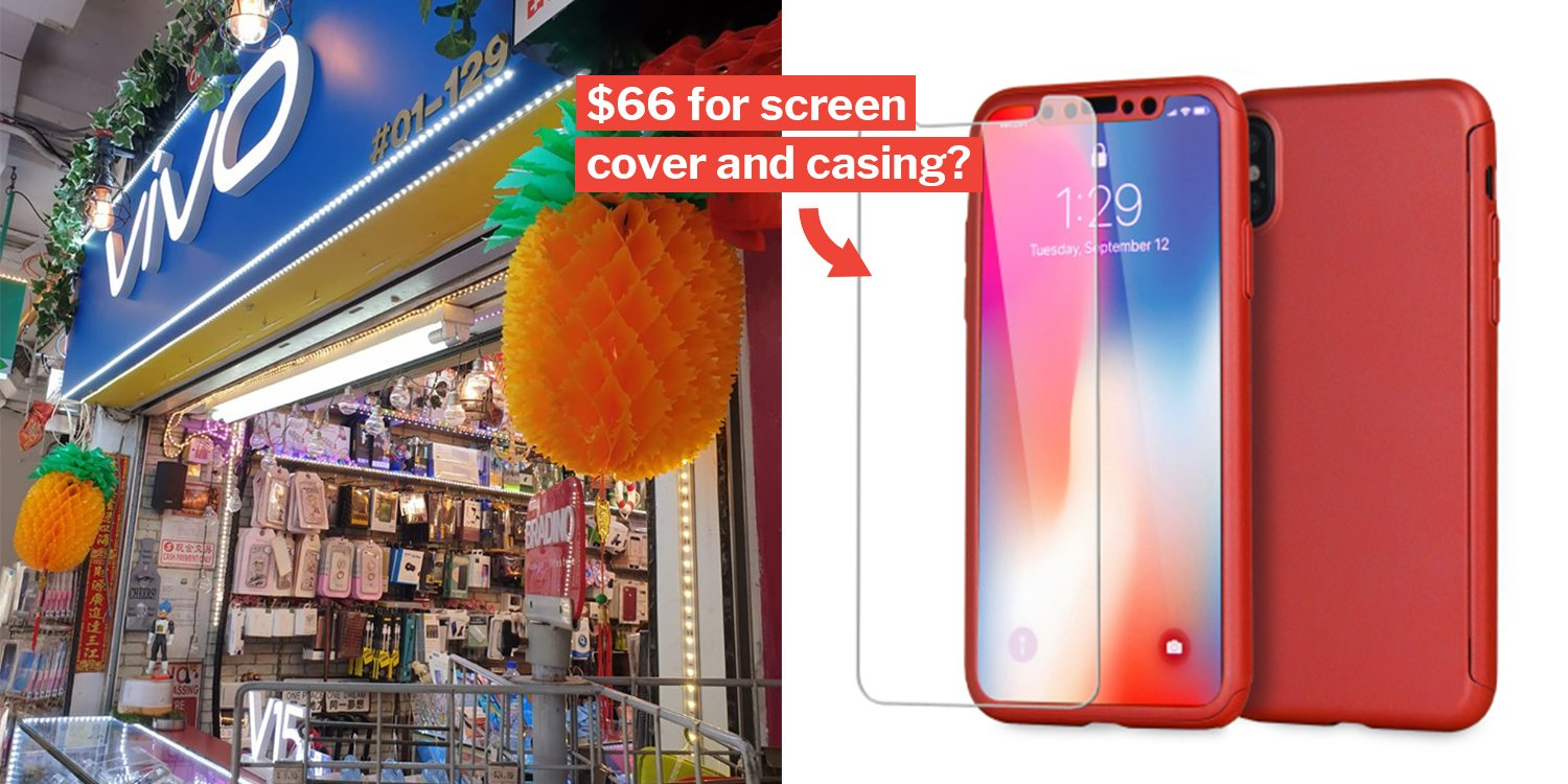 buy popular a41e8 9c5e2 Phone Shop Owner In Bedok Allegedly Changed Woman's Screen Cover ...