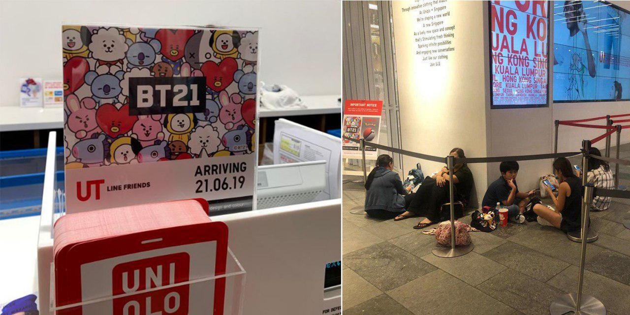 BTS Fans Queued Overnight For BT21 x Uniqlo Shirts