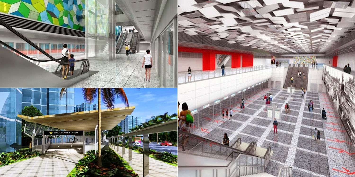 These 3 Woodlands MRT Stations Open By End-2019, Here's What They'll