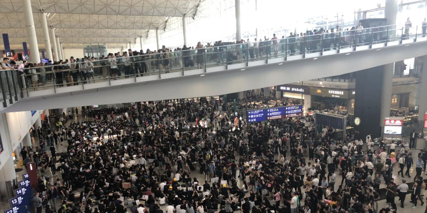 Image result for protests in Hong Kong airport