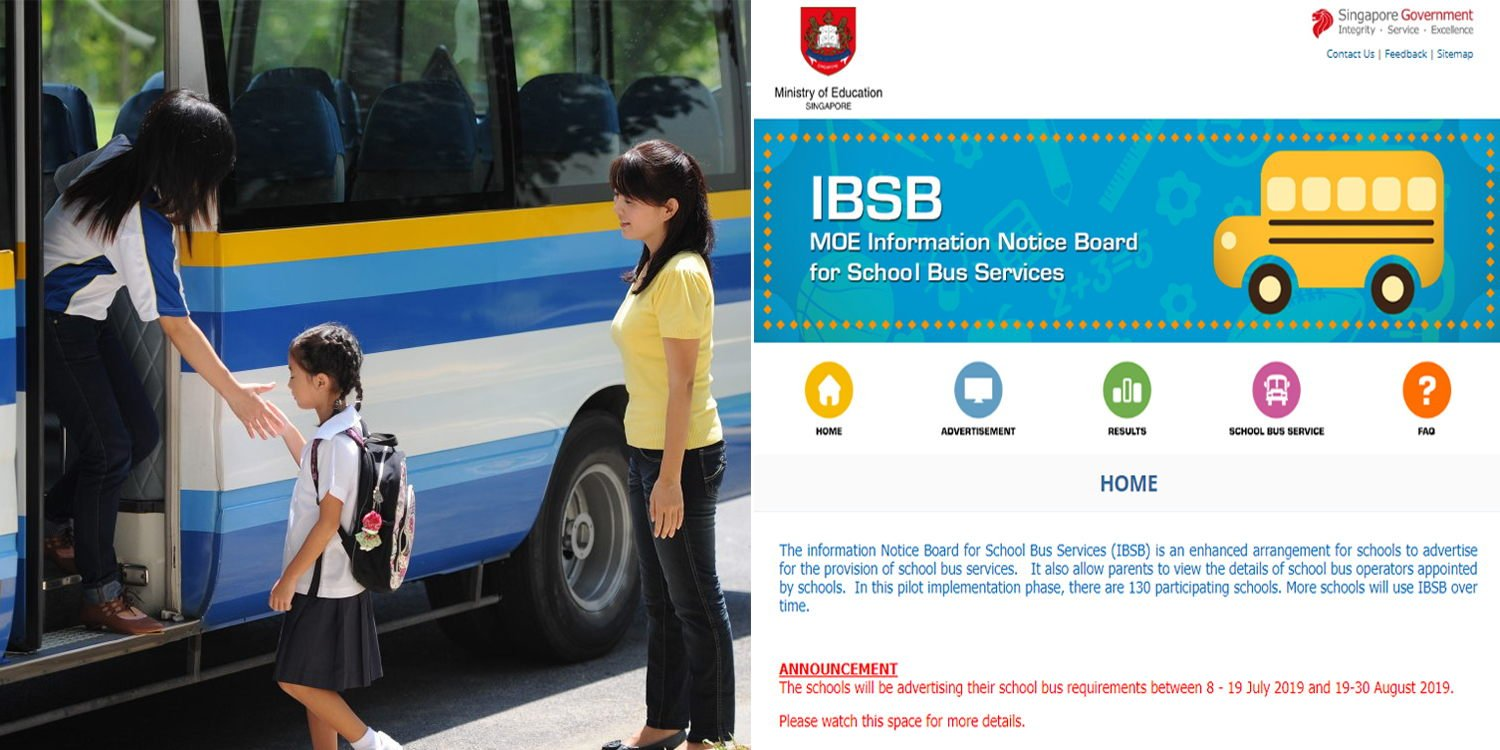 S'pore Parents Can Compare Primary School Bus Fares On MOE