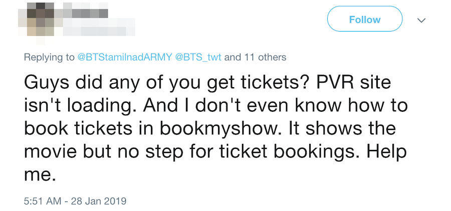 Golden Village Site Crashes As BTS Fans Want Tickets To See