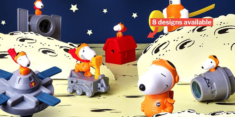 Snoopy x NASA Happy Meal Toys Landing At McDonald's