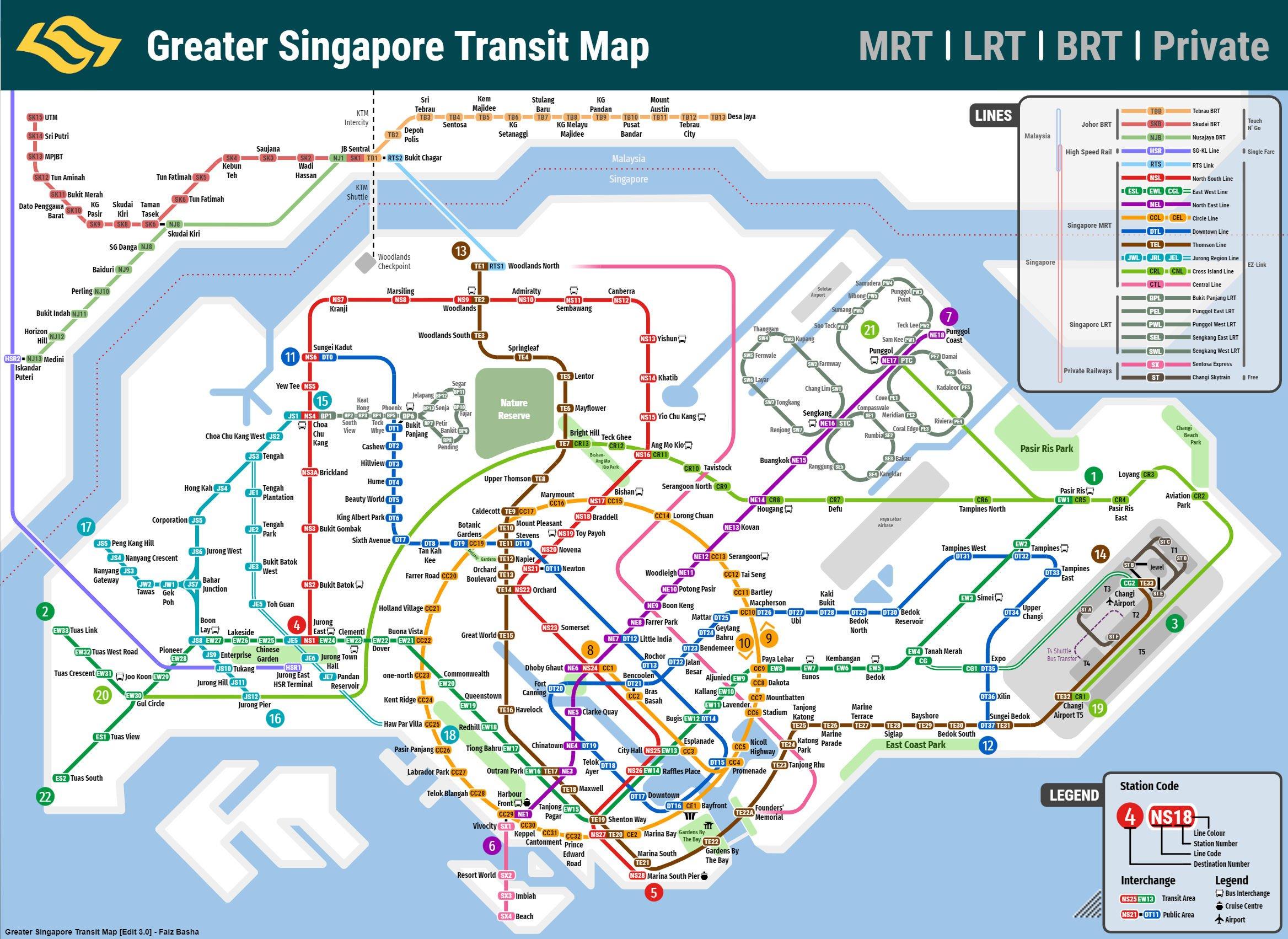 S'porean Redesigns MRT Map Again, Includes Parks, Landmarks
