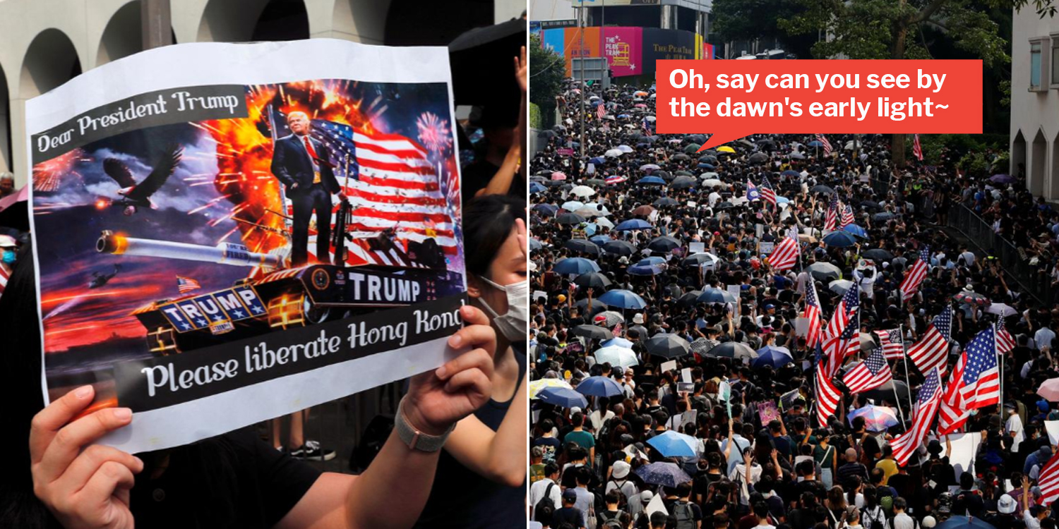 Hong Kong Protesters Ask Trump To Rescue Them