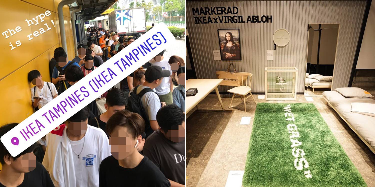 Ikea Virgil Abloh Collection Sees Snaking Queues At Spore