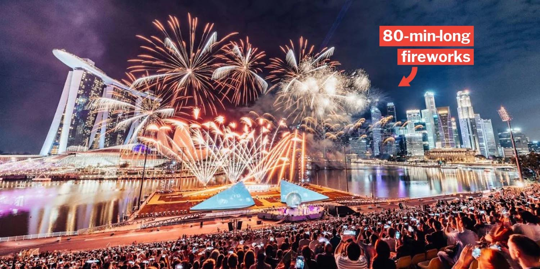 Marina Bay New Year Countdown Has 80 Min Long Japanese Musical Fireworks On 31 Dec