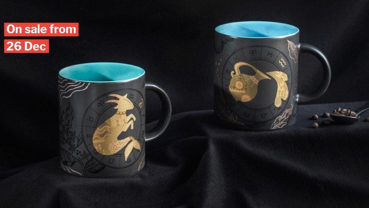 Starbucks 2019 Constellation 12oz Sagittarius Cup Double Ceramic Mugs Collection