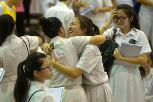Singapore students receive o level results