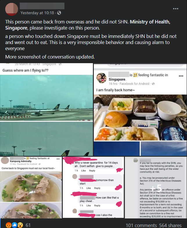 SHN Breach Singapore Shanmugam