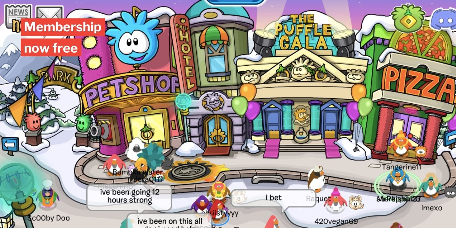 club penguin games free online play