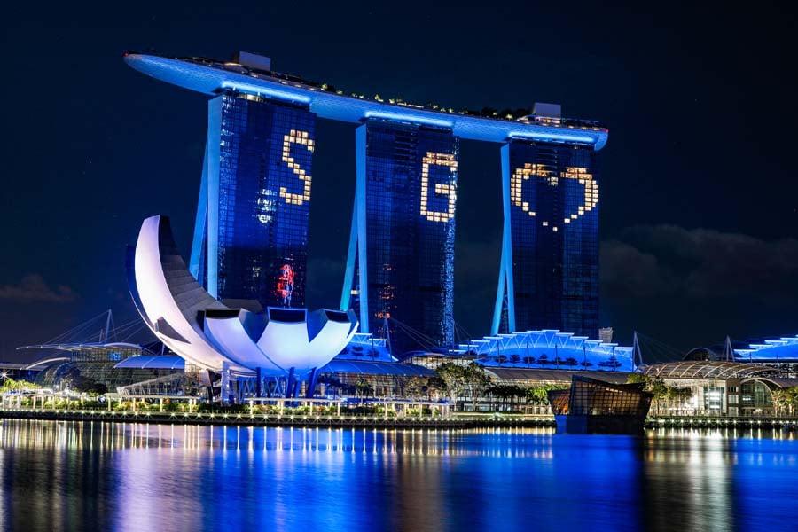 Singapore Blue Landmarks 2