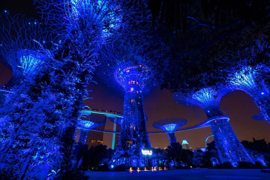 Singapore Blue Landmarks 3