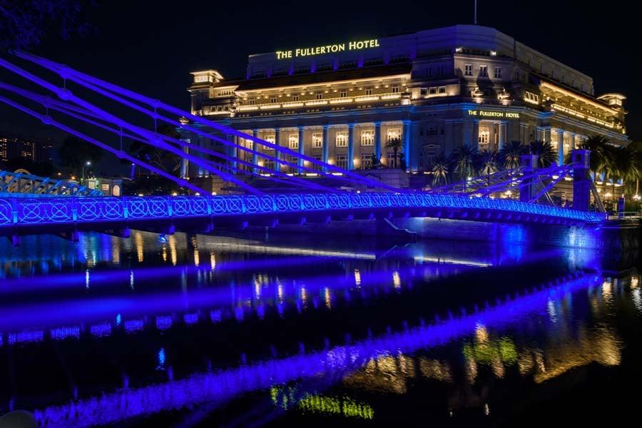 Singapore Blue Landmarks 4