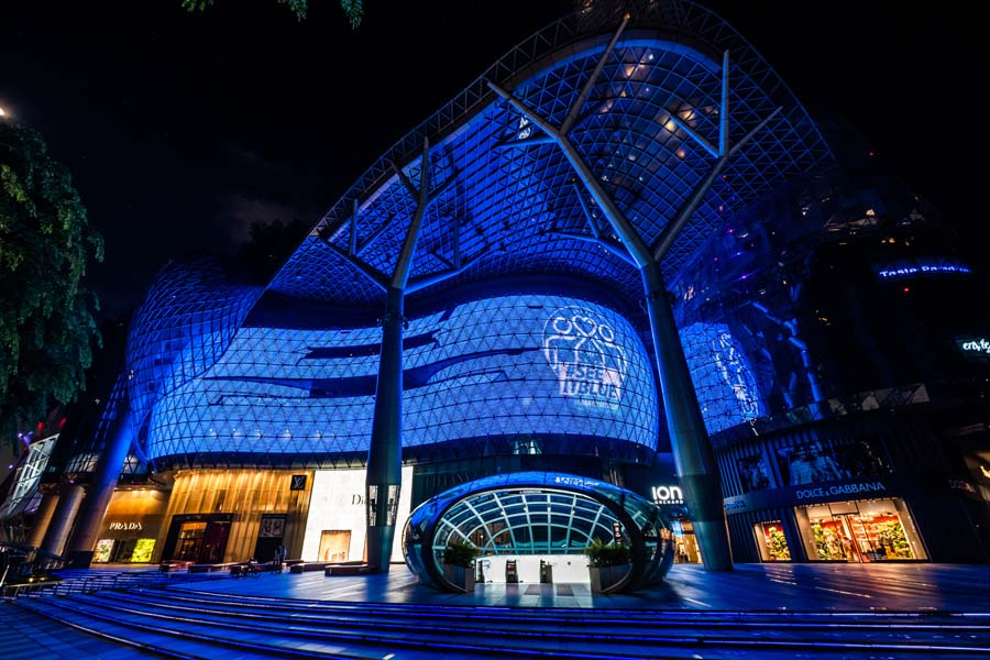 Singapore Blue Landmarks 10