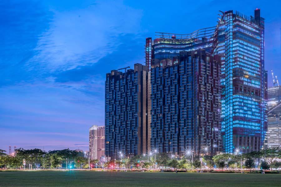 Singapore Blue Landmarks 5