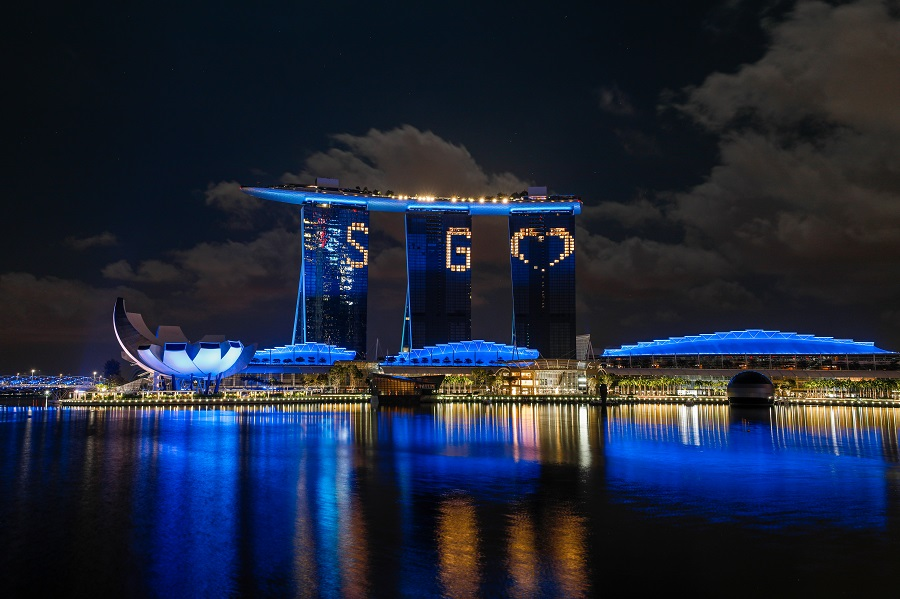 Singapore Blue Landmarks 1