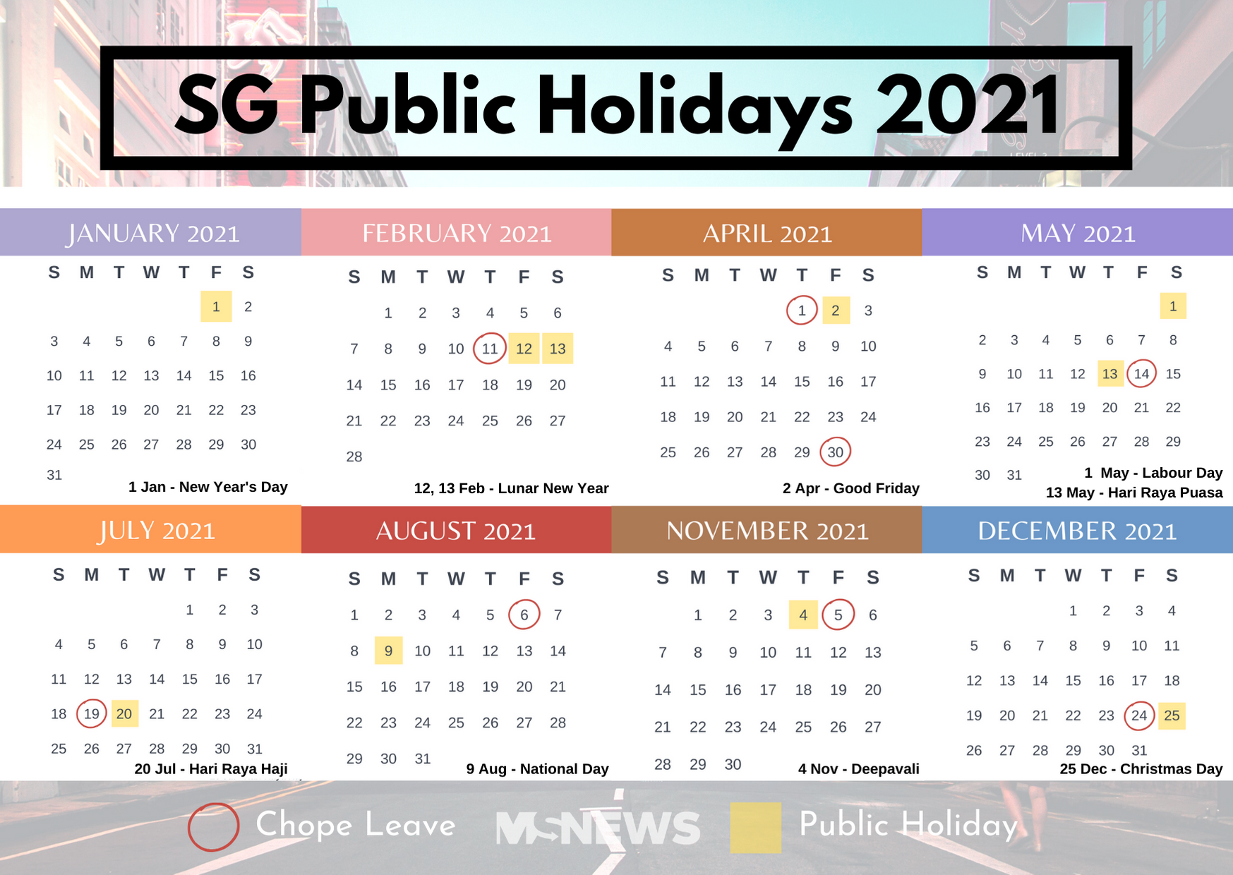 S Pore Public Holidays 2021 Will Give You 9 Long Weekends With 8 Days Annual Leave