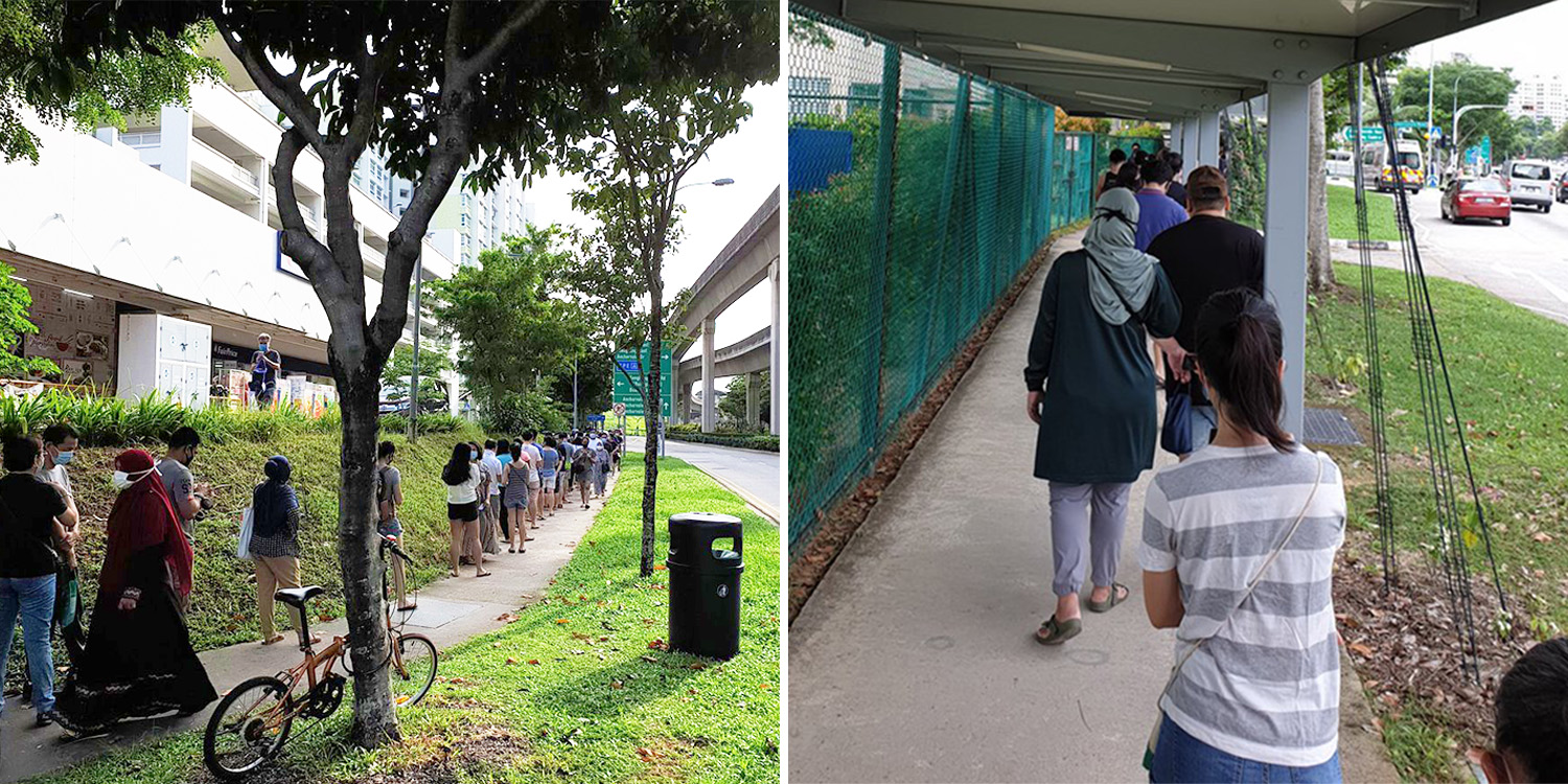 Polling day queues