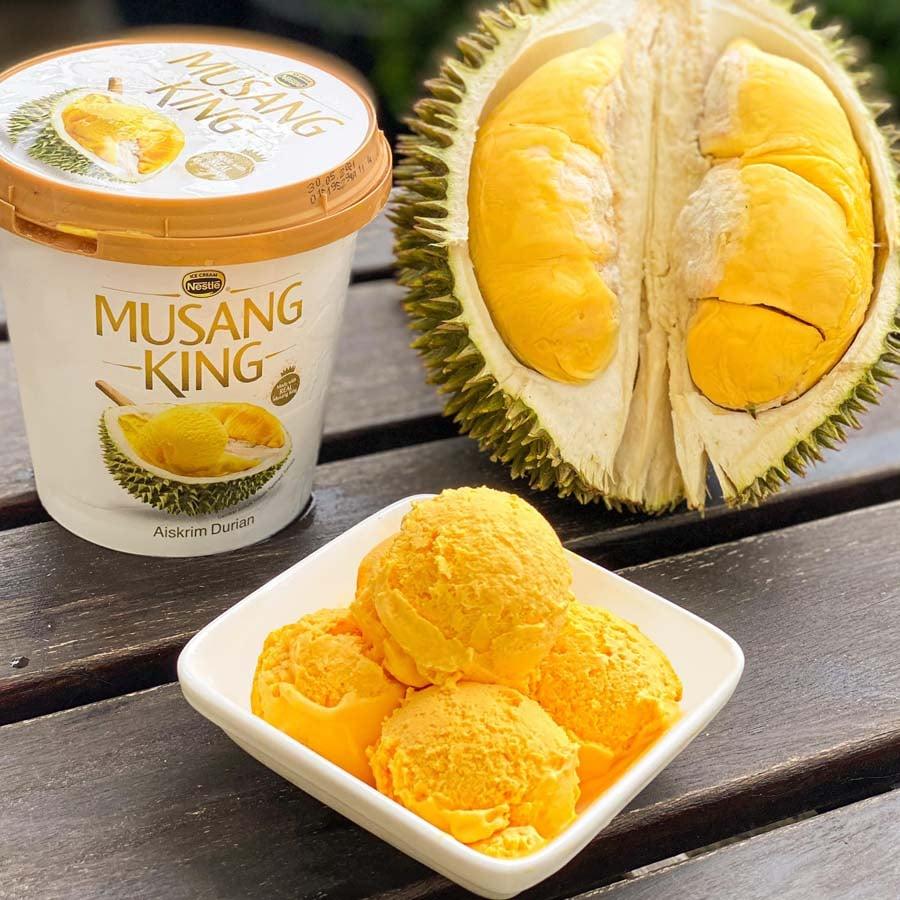 Musang King durian ice cream 1