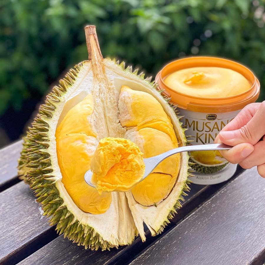 Musang King durian ice cream 2
