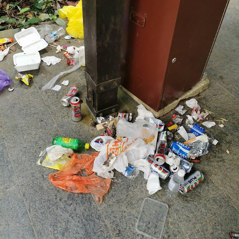 MacRitchie Reservoir trash
