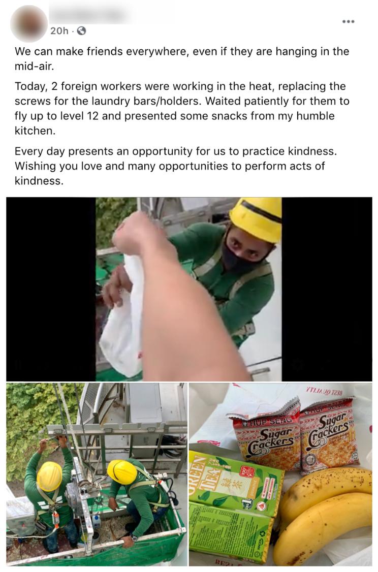 Snacks migrant workers