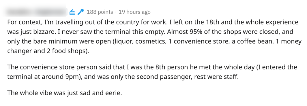 Comment about eerie terminal 3