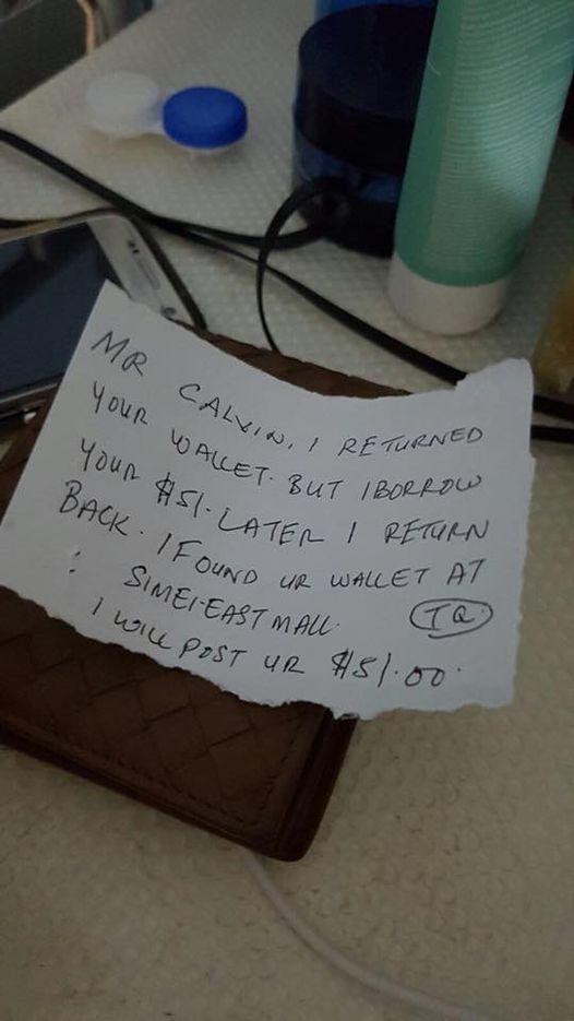 wallet missing cash