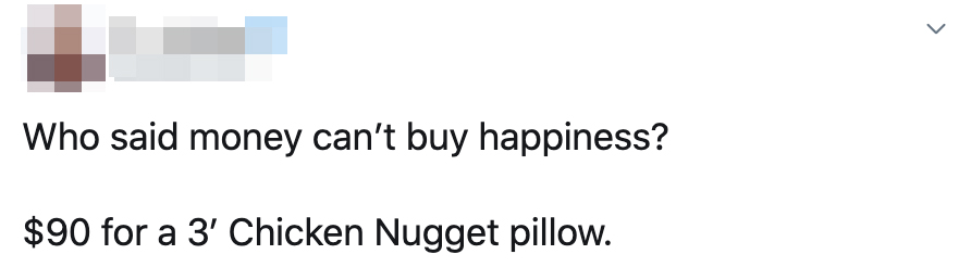 McDonald's nugget pillow
