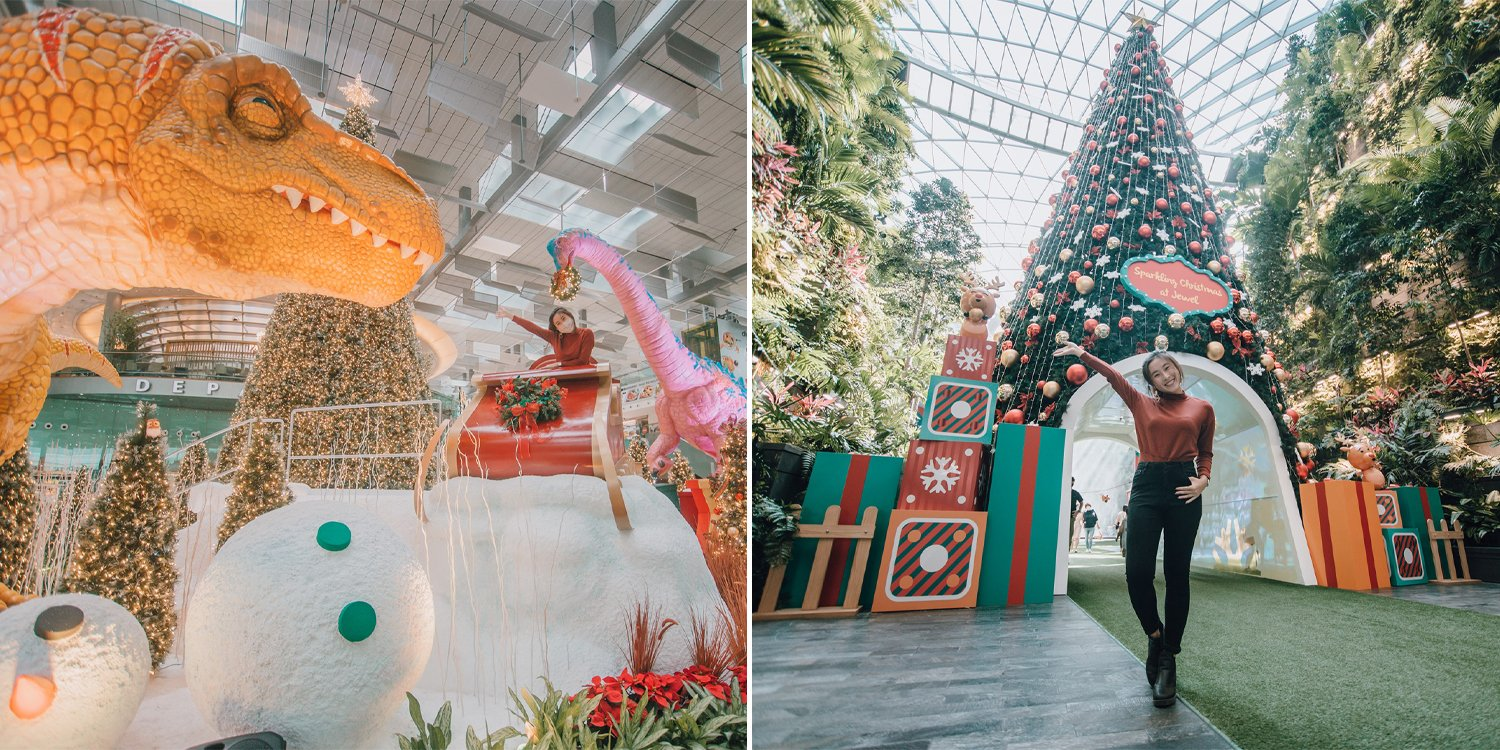 Changi Jewel has 16-metre Christmas Tree, Magical Snowfall & Xmas Pikachu Plushies from Nov 19