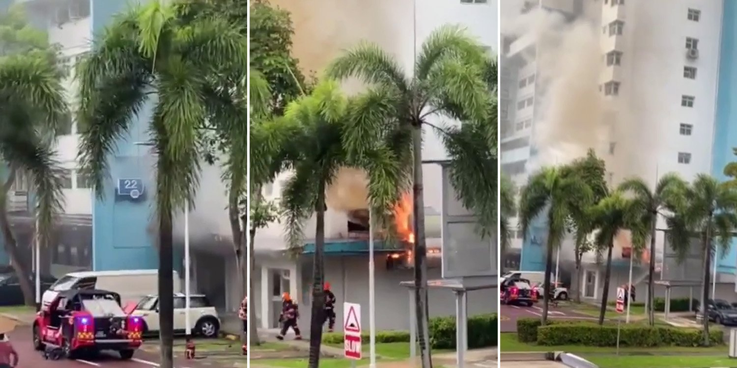 Fire Breaks Out At Ban Heng Restaurant In Boon Keng 20 People Evacuated With No Injuries