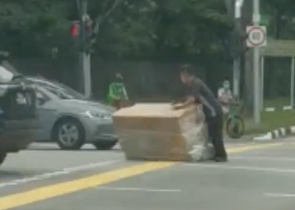 man heavy load
