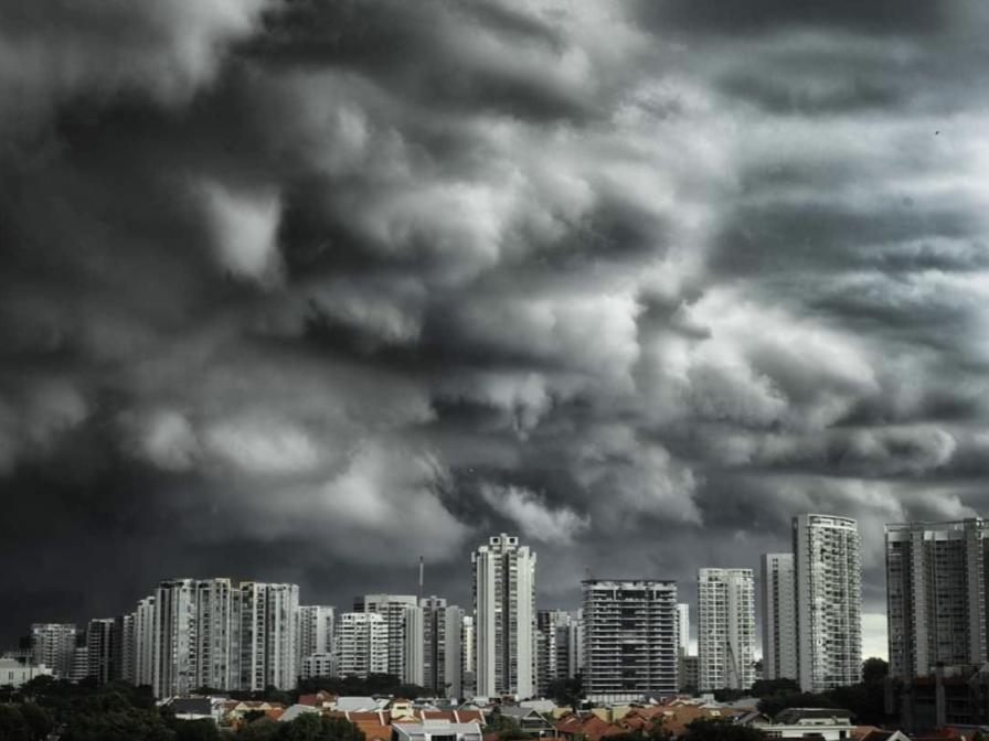 Pitch black clouds