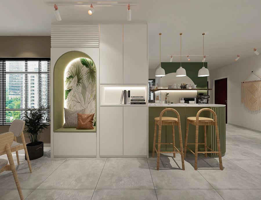 bto glass showcase kitchen