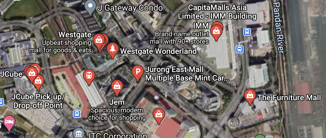 Nearby malls