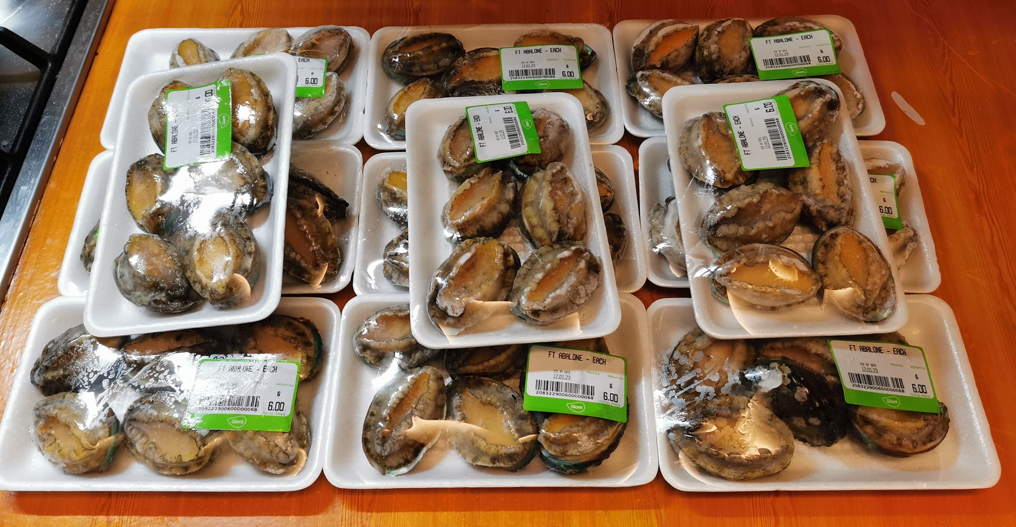 200 abalones Giant