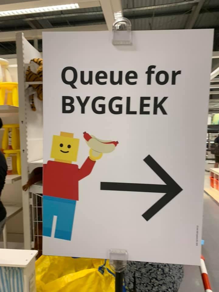 IKEA Tampines queues lego