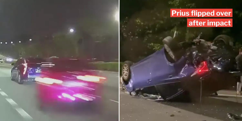 Speeding Car Crashes Into Prius On CTE, 2 Men Arrested For ...