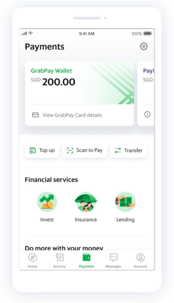 Grabpay wallet transfer