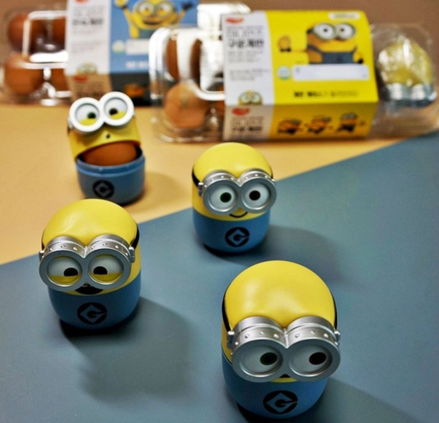 Minions egg case collection