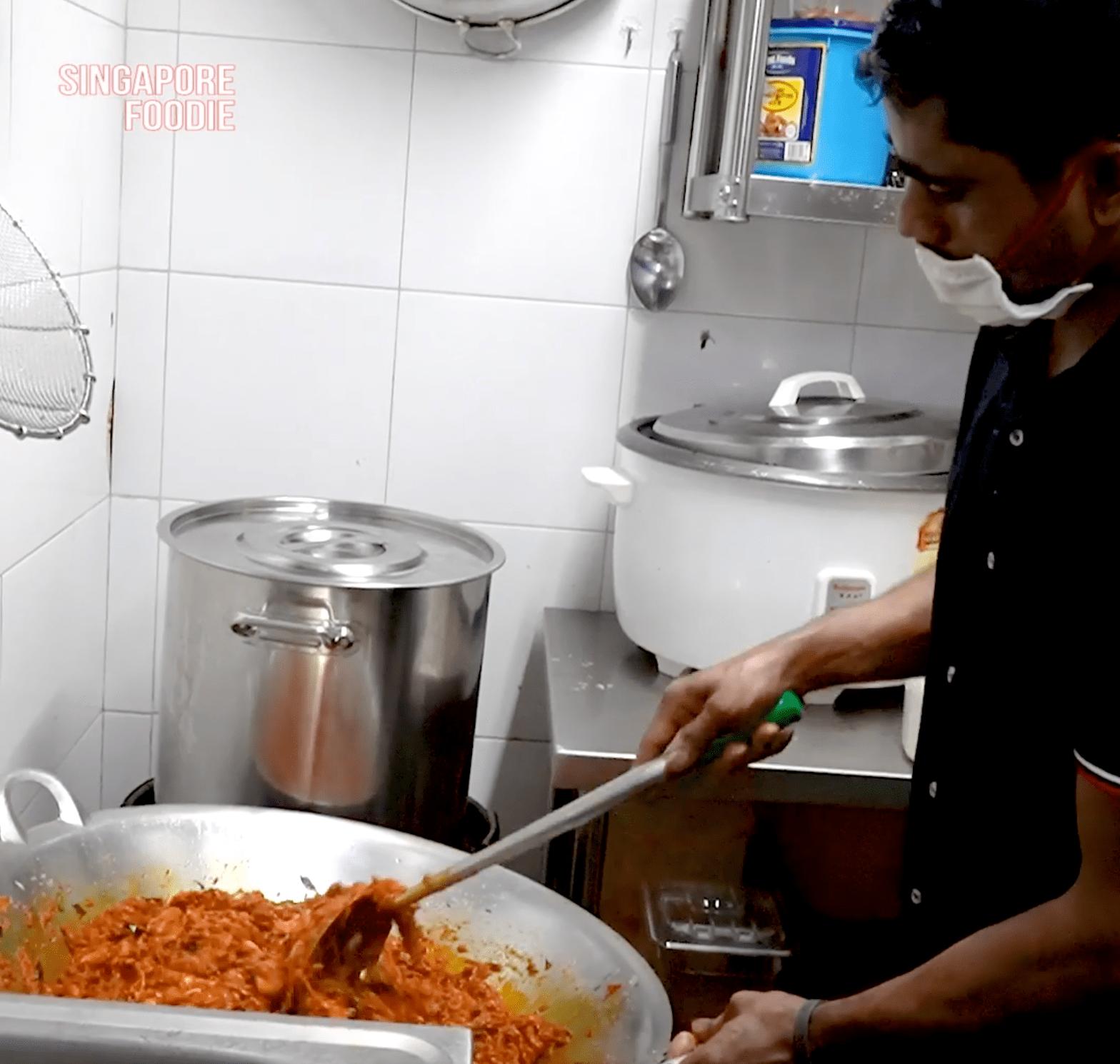 Migrant worker briyani stall
