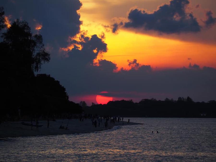 bright red sunset 1