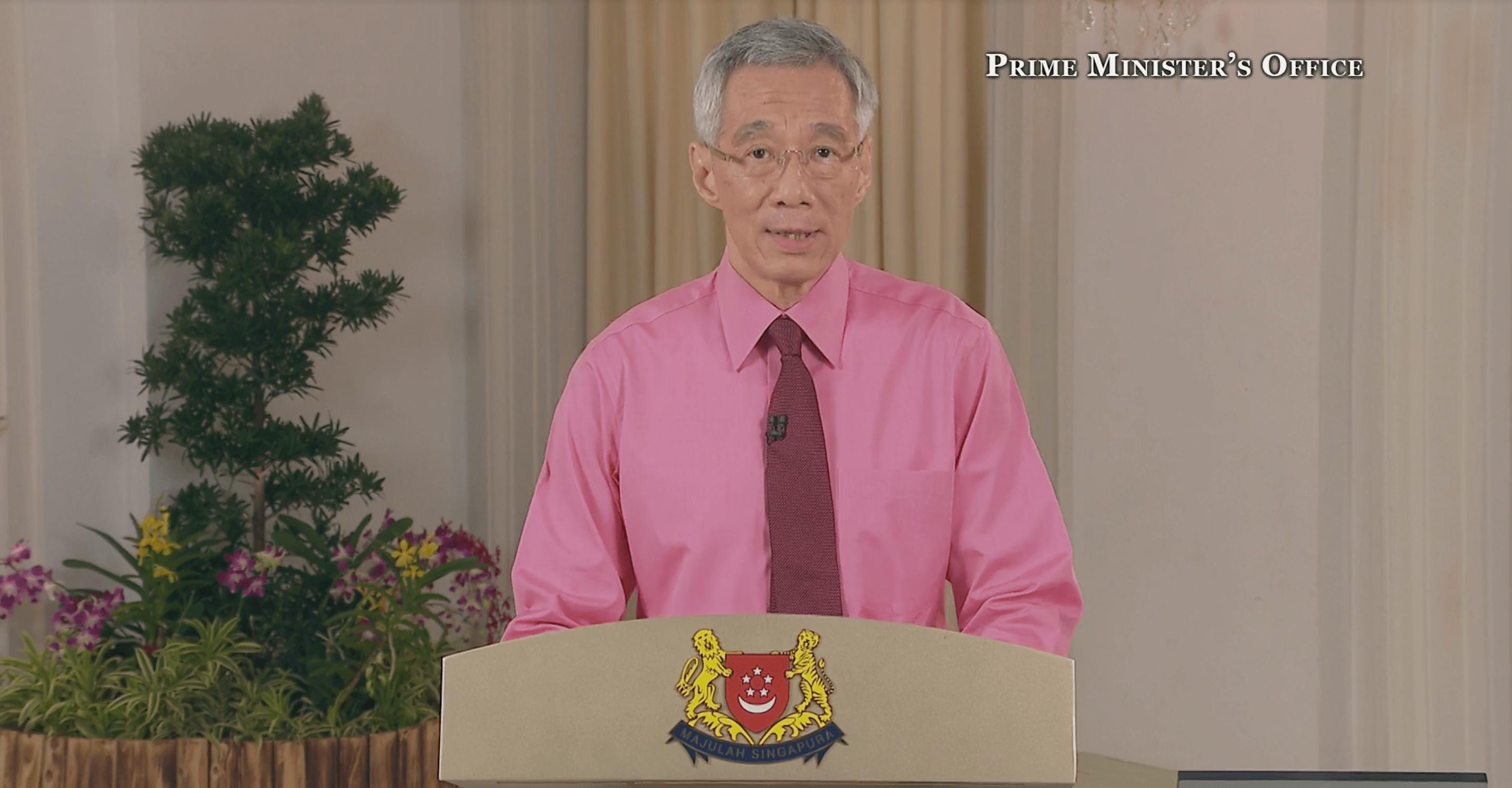 PM Lee address 31 may