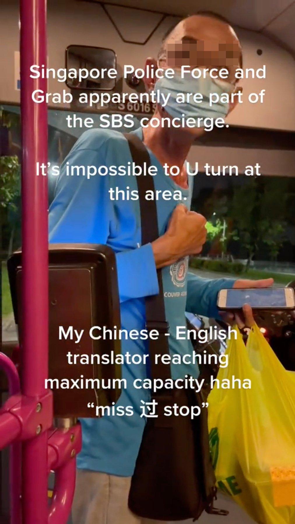 man misses bus stop
