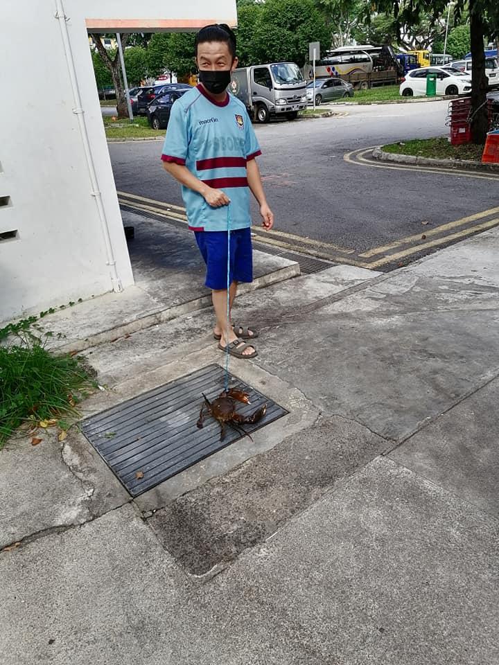 man crab walk