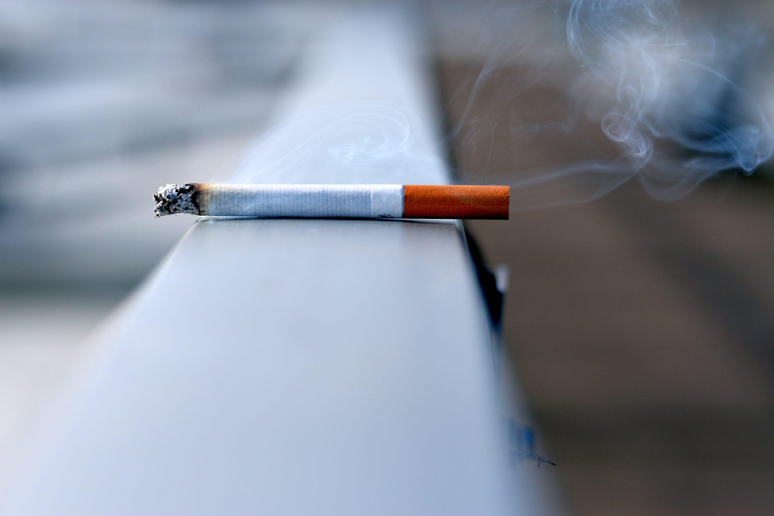 woman records neighbour smoke