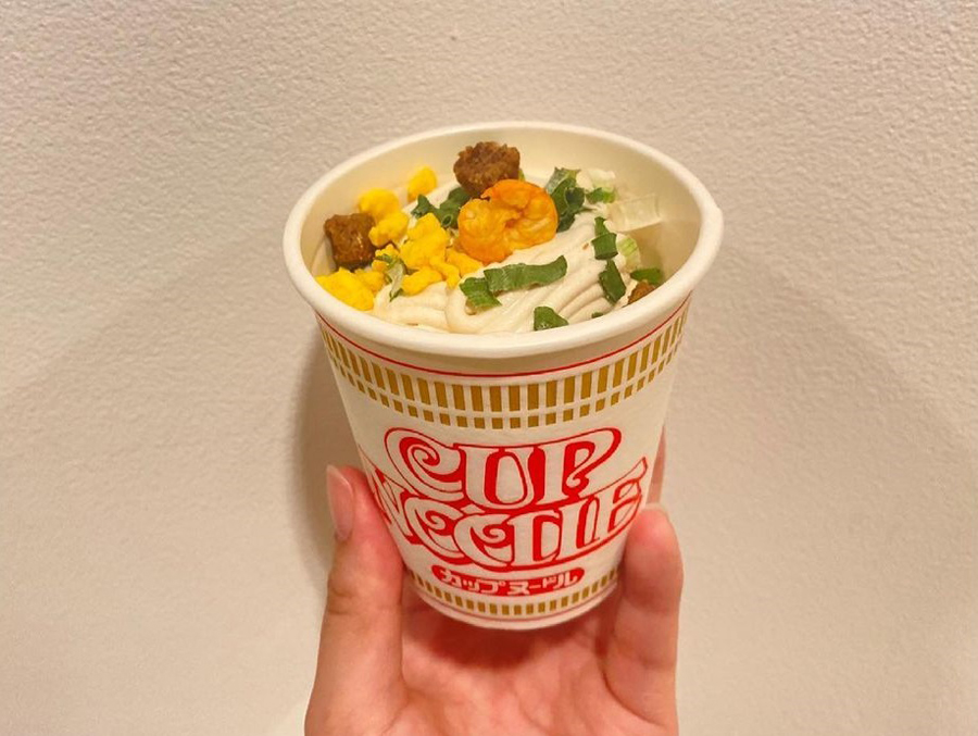 Cup noodle ice cream 1