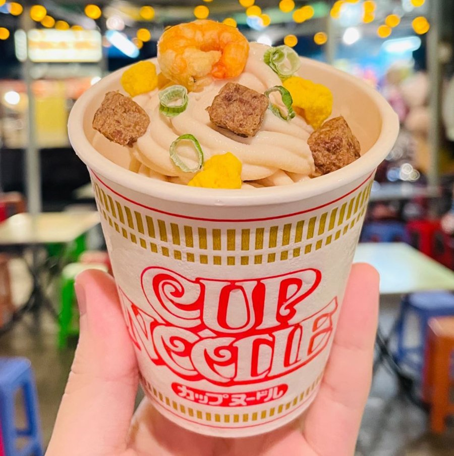 Cup noodle ice cream